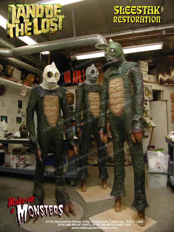 Sid & Marty Krofft  SLEESTAK suits from LAND OF THE LOST