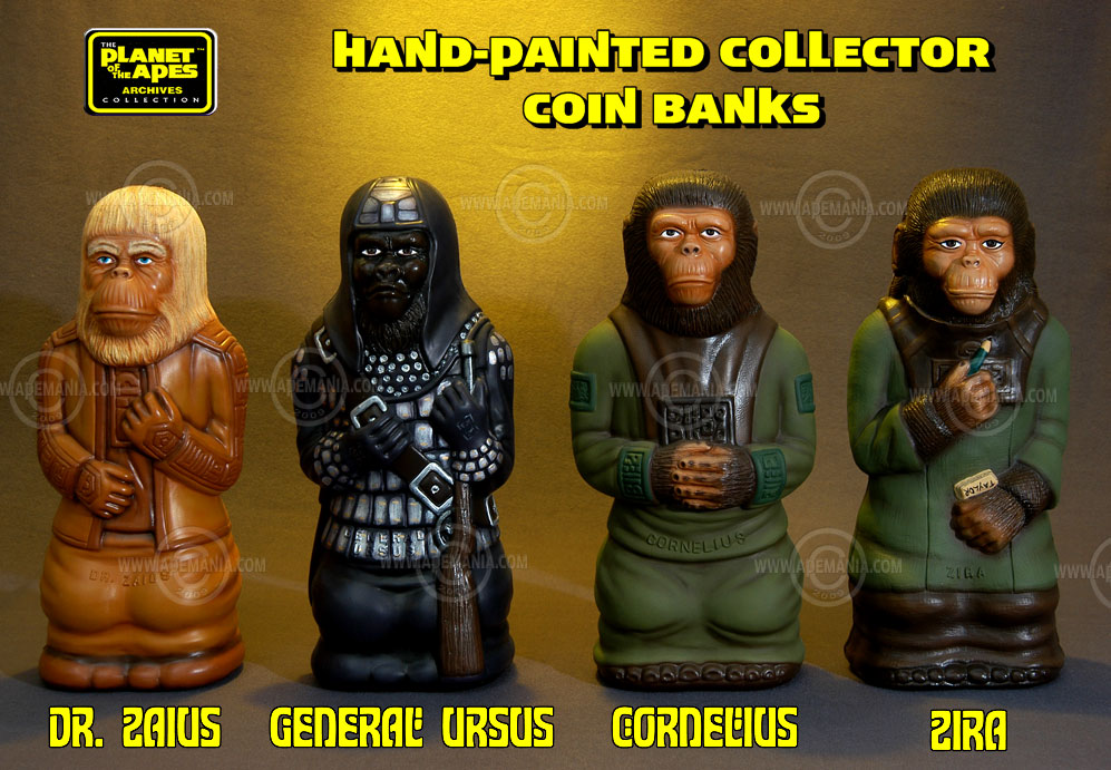 vintage Planet of the Apes banks